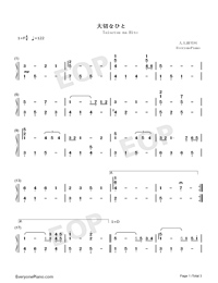 Taisetsu na Hito-Numbered-Musical-Notation-Preview-1