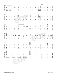 Taisetsu na Hito-Numbered-Musical-Notation-Preview-3