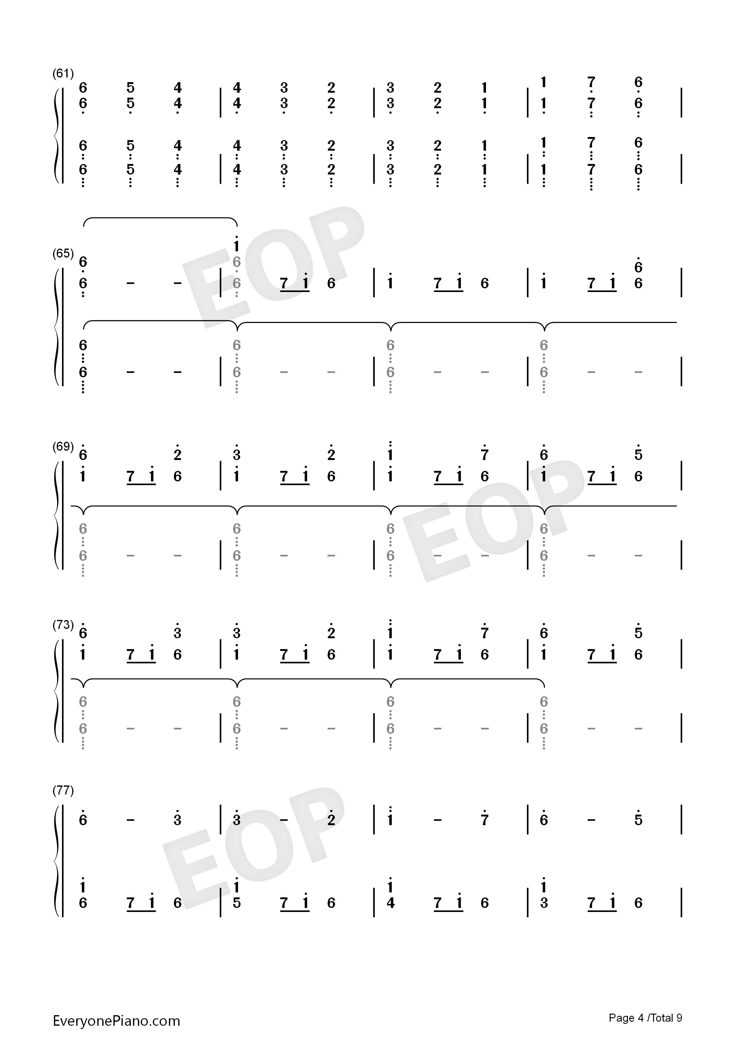 Christmas Eve Sarajevo 12 24 Numbered Musical Notation Preview 4