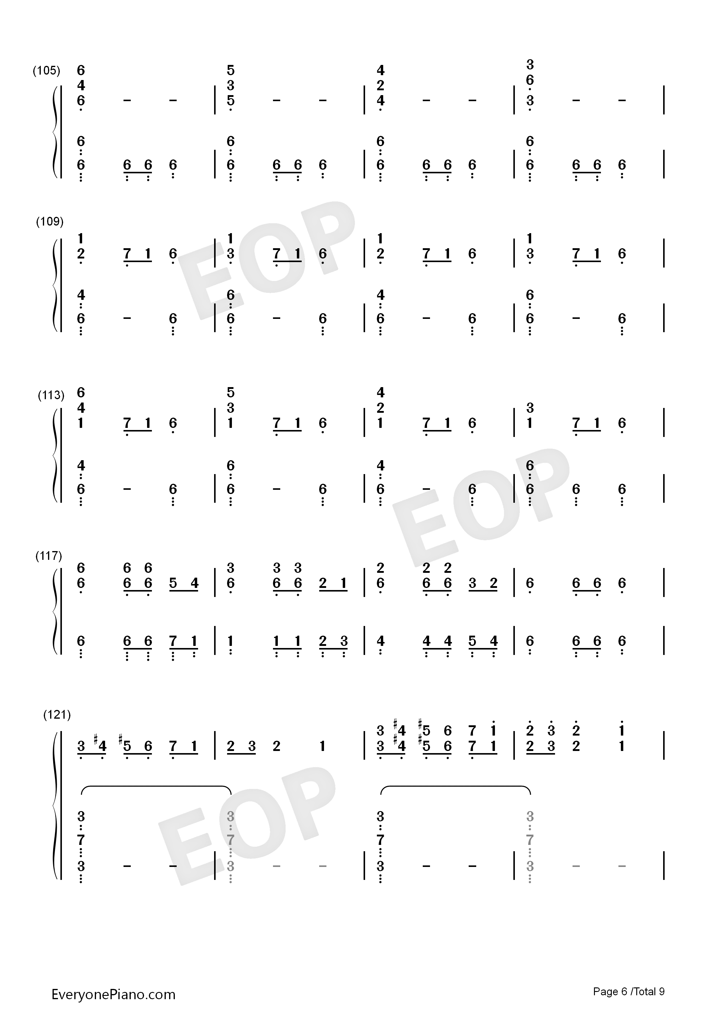 Christmas Eve Sarajevo 12 24 Numbered Musical Notation Preview 6