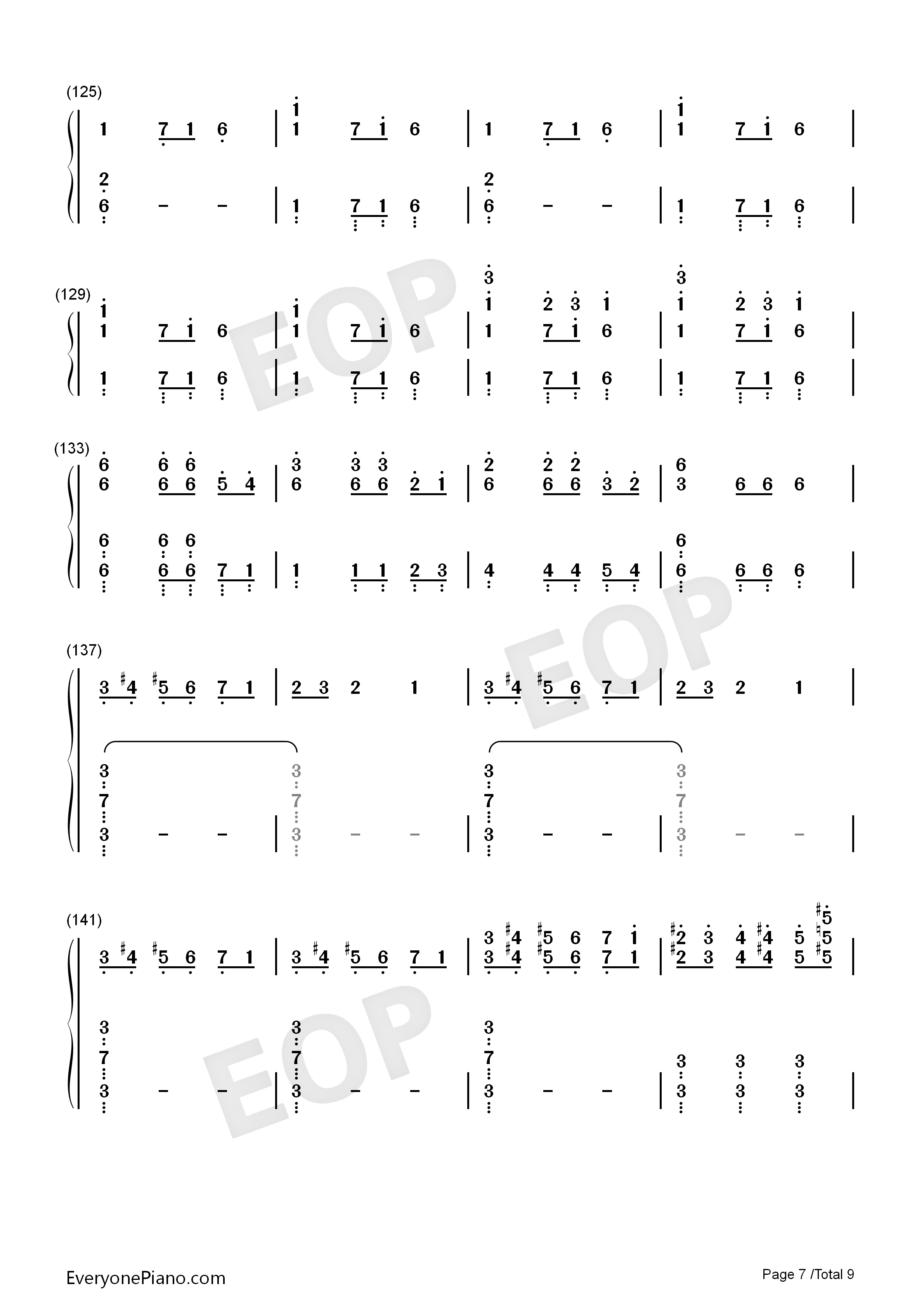 Christmas Eve Sarajevo 12 24 Numbered Musical Notation Preview 7