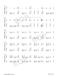 Christmas Eve Sarajevo 12 24 Numbered Musical Notation Preview 2
