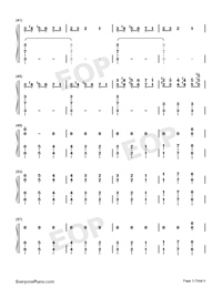 Christmas Eve Sarajevo 12 24 Numbered Musical Notation Preview 3