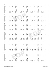 Christmas Eve Sarajevo 12 24 Numbered Musical Notation Preview 5