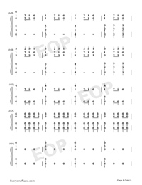 Christmas Eve Sarajevo 12 24 Numbered Musical Notation Preview 8