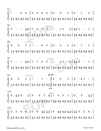 Waves-Dean Lewis-Numbered-Musical-Notation-Preview-4