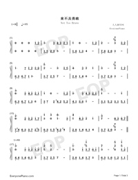 Not Too Brave-Crystal Sky of Yesterday Theme-Numbered-Musical-Notation-Preview-1