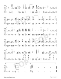 Stories of Chang'an-Ever Night Theme-Numbered-Musical-Notation-Preview-2