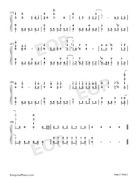 Case Closed Theme-Numbered-Musical-Notation-Preview-2