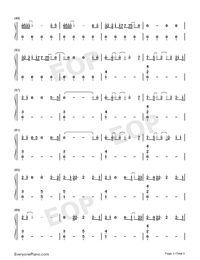 Nothing Breaks Like a Heart-Mark Ronson ft Miley Cyrus Numbered Musical Notation Preview 3