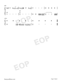 Nothing Breaks Like a Heart-Mark Ronson ft Miley Cyrus Numbered Musical Notation Preview 5
