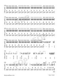 0→∞ e no Choudou-Numbered-Musical-Notation-Preview-3