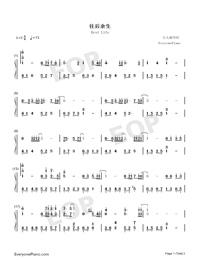 往後余生-C調完美版雙手簡譜預覽1