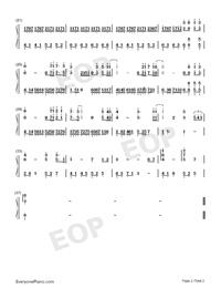往後余生-C調完美版雙手簡譜預覽2