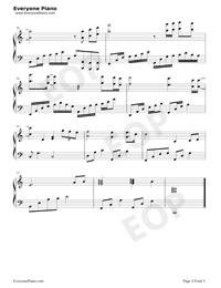 往後余生-C調完美版五線譜預覽3