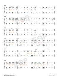 知否知否-知否知否應是綠肥紅瘦主題曲雙手簡譜預覽4