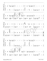 今晩はお月さん-ピアノ独奏版両手略譜プレビュー2