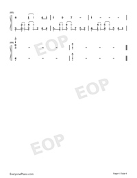 Rise-Bloom Into You OST Numbered Musical Notation Preview 4