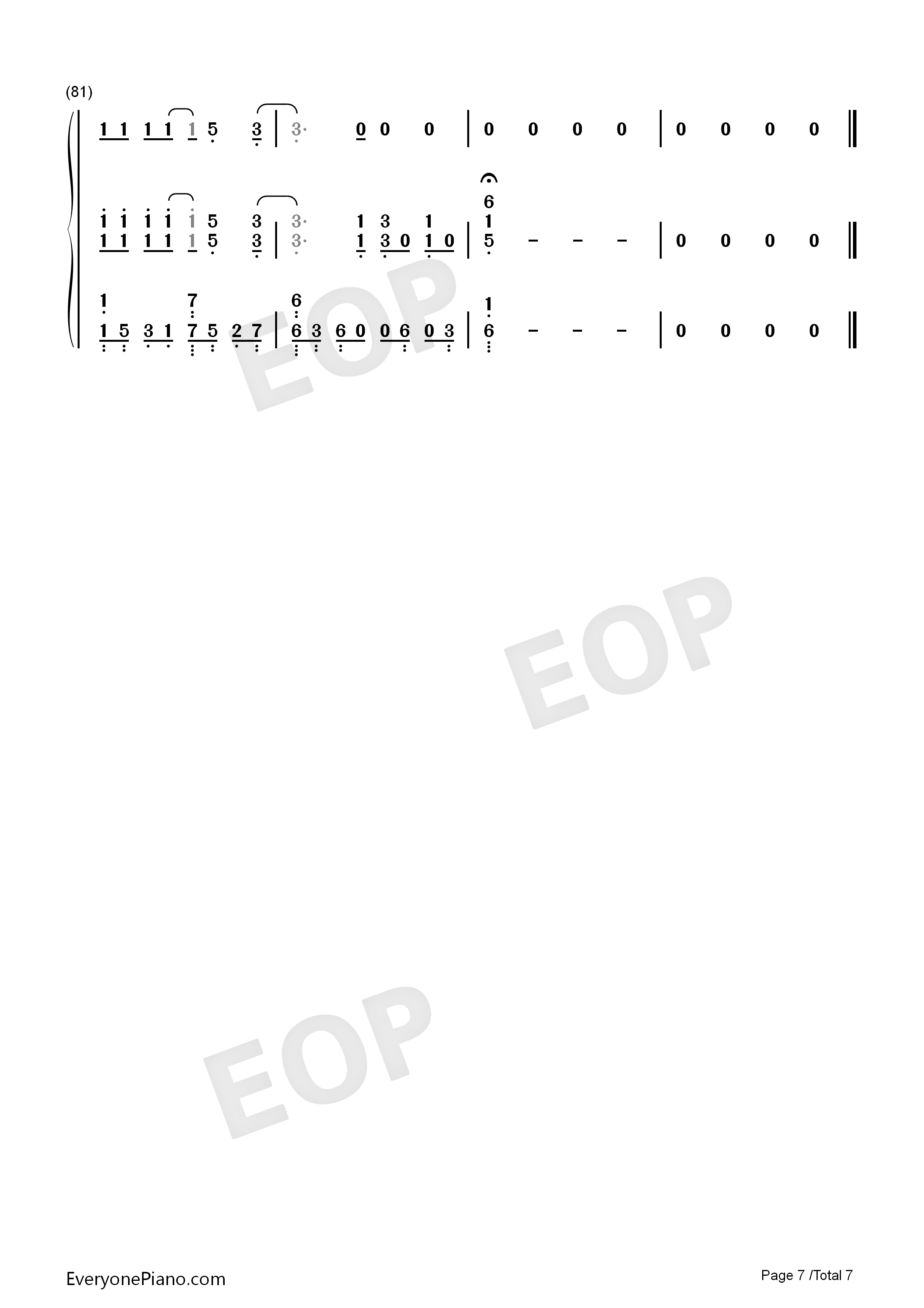 Shallow-A Star Is Born OST Numbered Musical Notation Preview 7
