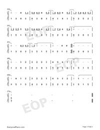 生僻字-簡單版-抖音熱歌雙手簡譜預覽3