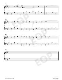 生僻字-簡單版-抖音熱歌五線譜預覽4
