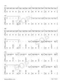 生僻字-完整版-抖音爆火雙手簡譜預覽3