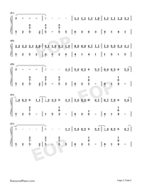 生僻字-完整版-抖音爆火雙手簡譜預覽5