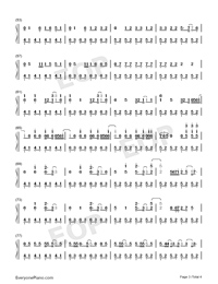 Shots-Imagine Dragons-Numbered-Musical-Notation-Preview-3