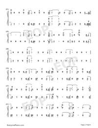 Love You Anymore-Michael Buble Numbered Musical Notation Preview 2