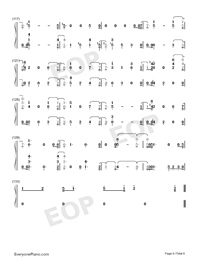 Love You Anymore-Michael Buble Numbered Musical Notation Preview 6