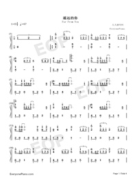 Far From You-Full Version-Numbered-Musical-Notation-Preview-1