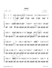 Brave Love-Embrace Love OP-Numbered-Musical-Notation-Preview-1