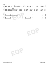 Brave Love-Embrace Love OP Numbered Musical Notation Preview 3