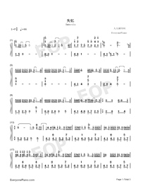 Amnesia-Original Version Numbered Musical Notation Preview 1