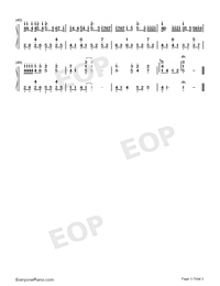 Amnesia-Original Version Numbered Musical Notation Preview 3