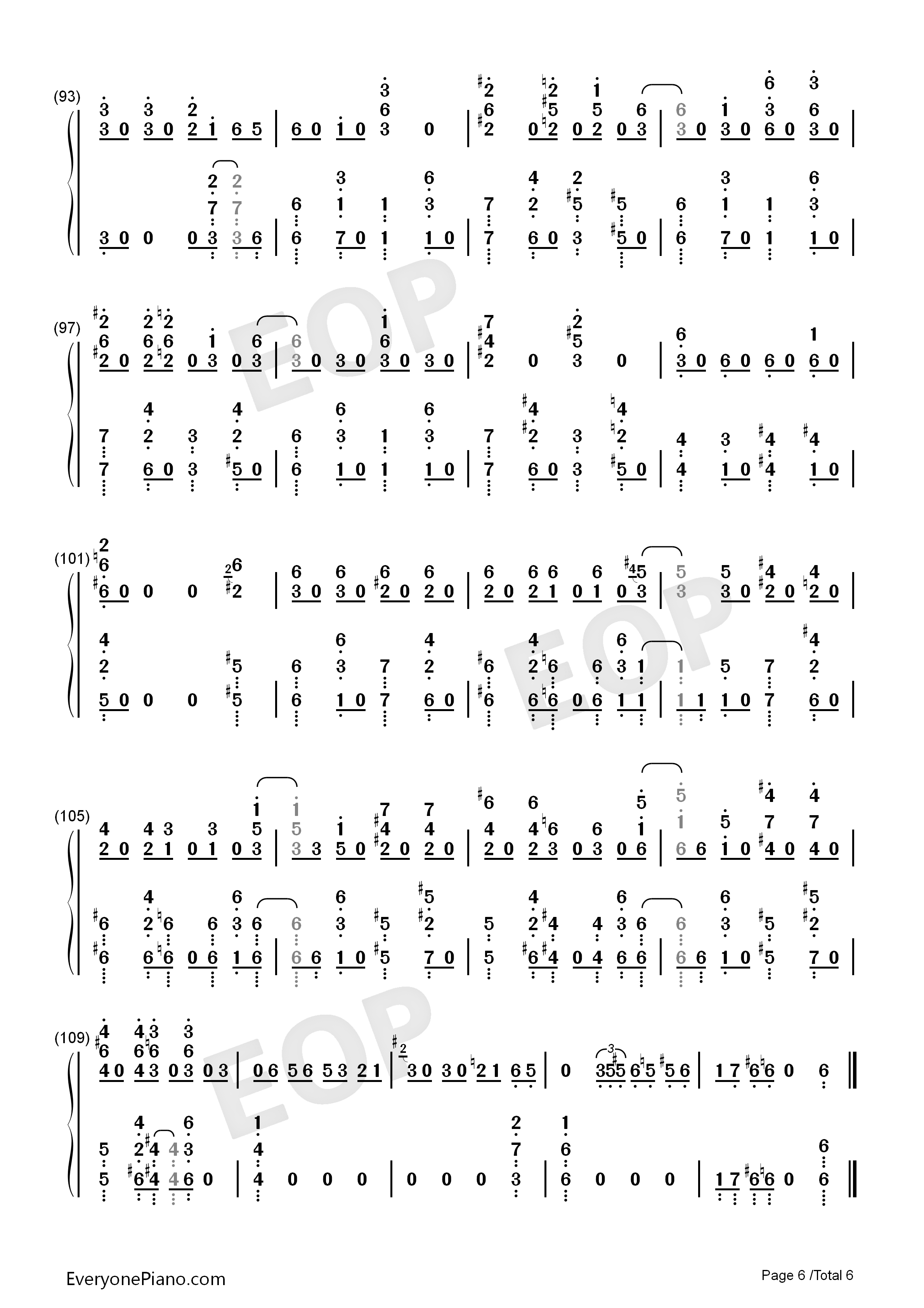 GIN TONIC ~Oyaji~-Ootake Kaoruko Numbered Musical Notation Preview 6