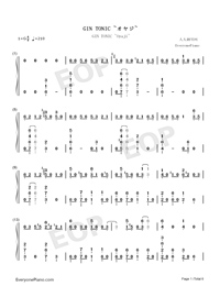 GIN TONIC ~Oyaji~-Ootake Kaoruko Numbered Musical Notation Preview 1
