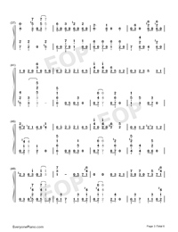 GIN TONIC ~Oyaji~-Ootake Kaoruko Numbered Musical Notation Preview 3
