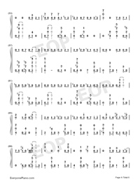 GIN TONIC ~Oyaji~-Ootake Kaoruko Numbered Musical Notation Preview 4