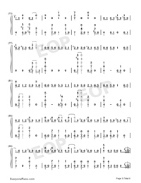 GIN TONIC ~Oyaji~-Ootake Kaoruko Numbered Musical Notation Preview 5