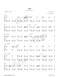 Lady-Kenny Rogers Free Piano Sheet Music & Piano Chords