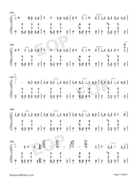 Drifting Poet-Jay Chou-Numbered-Musical-Notation-Preview-3