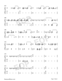 Boomerang-Imagine Dragons-Numbered-Musical-Notation-Preview-2