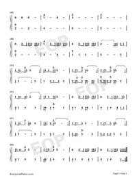 Boomerang-Imagine Dragons-Numbered-Musical-Notation-Preview-3