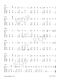 Machine-Imagine Dragons-Numbered-Musical-Notation-Preview-5