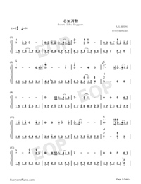 Heart like Daggers-Jacky Cheung-Numbered-Musical-Notation-Preview-1