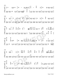 Heart like Daggers-Jacky Cheung-Numbered-Musical-Notation-Preview-2