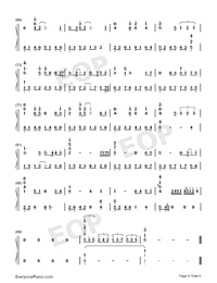 Heart like Daggers-Jacky Cheung-Numbered-Musical-Notation-Preview-4