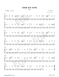 Autumn Thoughts-Original-Numbered-Musical-Notation-Preview-1