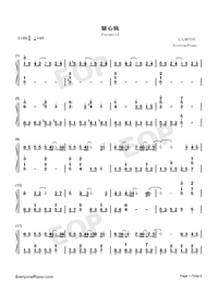 Paranoid-Ren Ran-Numbered-Musical-Notation-Preview-1